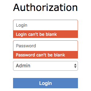 Form With Errors Screenshot
